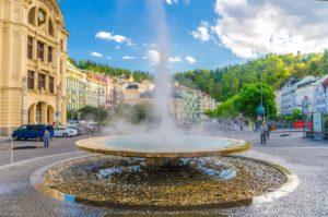 Terminální pramen Vřídlo Karlovy Vary